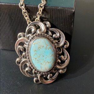 Vintage Danecraft Sterling Silver Pendant Brooch